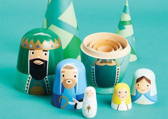 Nativity Nesting Dolls £21.99 Blackthorpe Barn