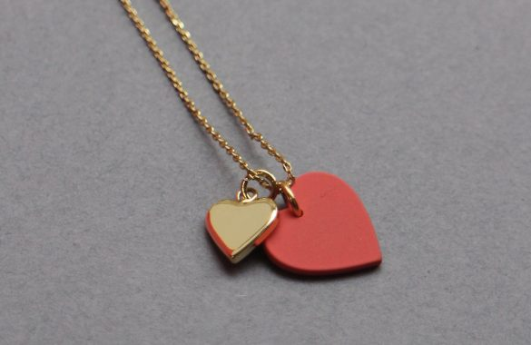 Gold Heart Duo Pendant Necklace £25 Ark, Peas Hill