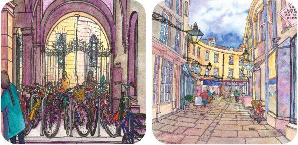 Cambridge Coasters by Naomi Davies £15 for 4 naomidaviesart.co.uk